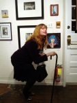 trying to pose w/ my painting (worst spot ever)