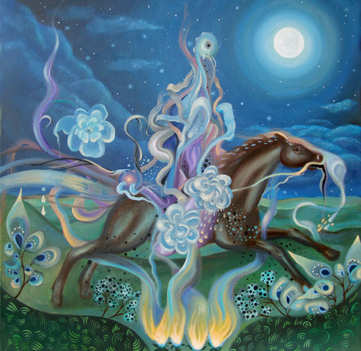 surrealist painting by Arabella Proffer