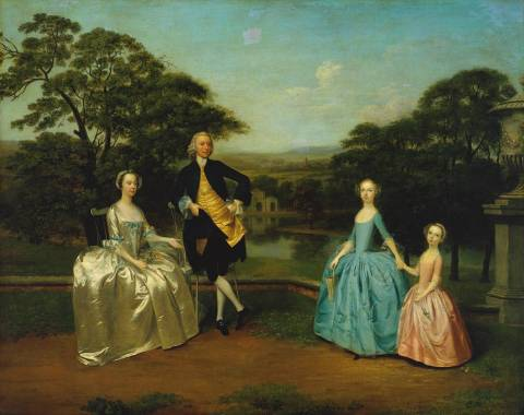 The James Family 1751 by Arthur Devis 1711-1787