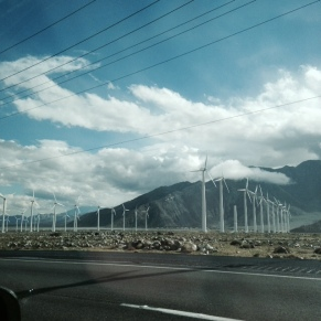 on the way to Palm Springs