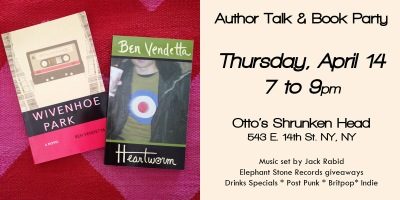 Ben Vendetta Manhattan book talk