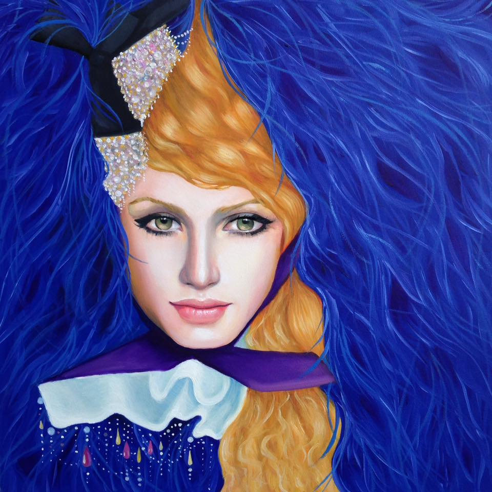 Pop Surrealist portrait by Arabella Proffer